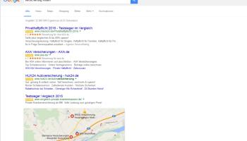 Google hat die rechte Anzeigenspalte in der Desktop-Suche gestrichen. Die Web-Schreibfeder hat die Folgen betrachtet.