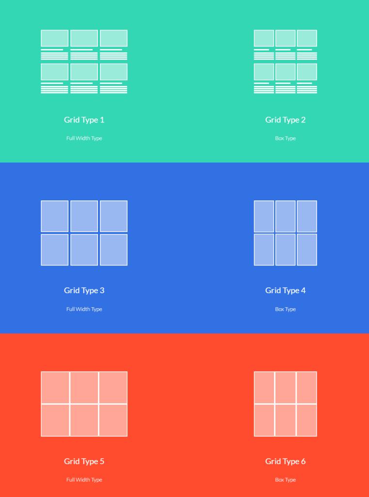 Стиль отображения контента 'Grid'