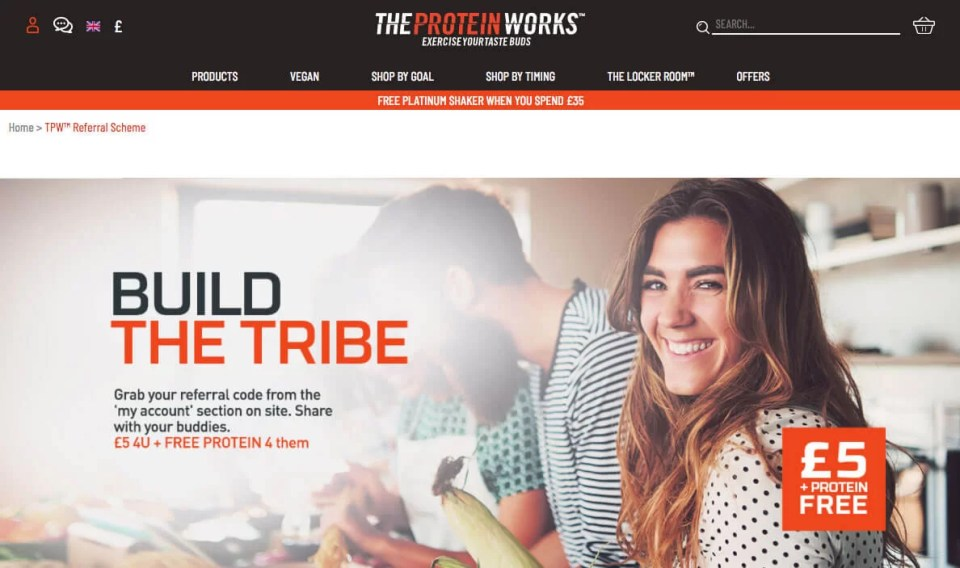 The Protein Works refer a friend code