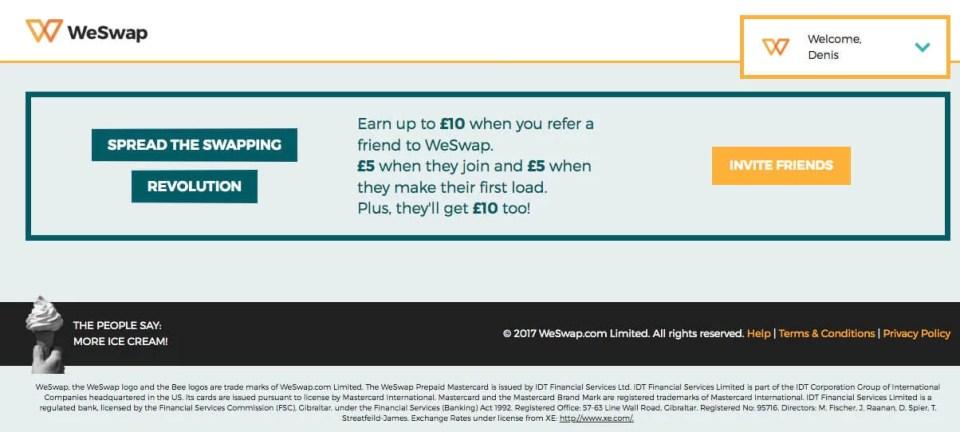 we swap referral code invite