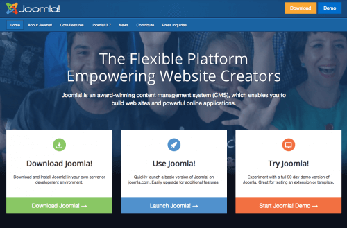 Joomla! is an award-winning content management system (CMS)