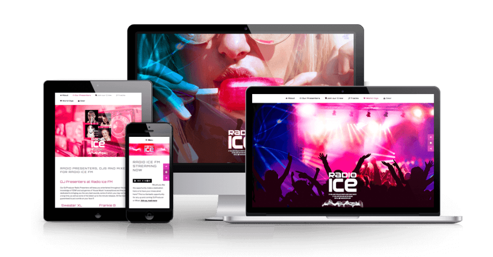 Radio Ice FM - streaming responsive website