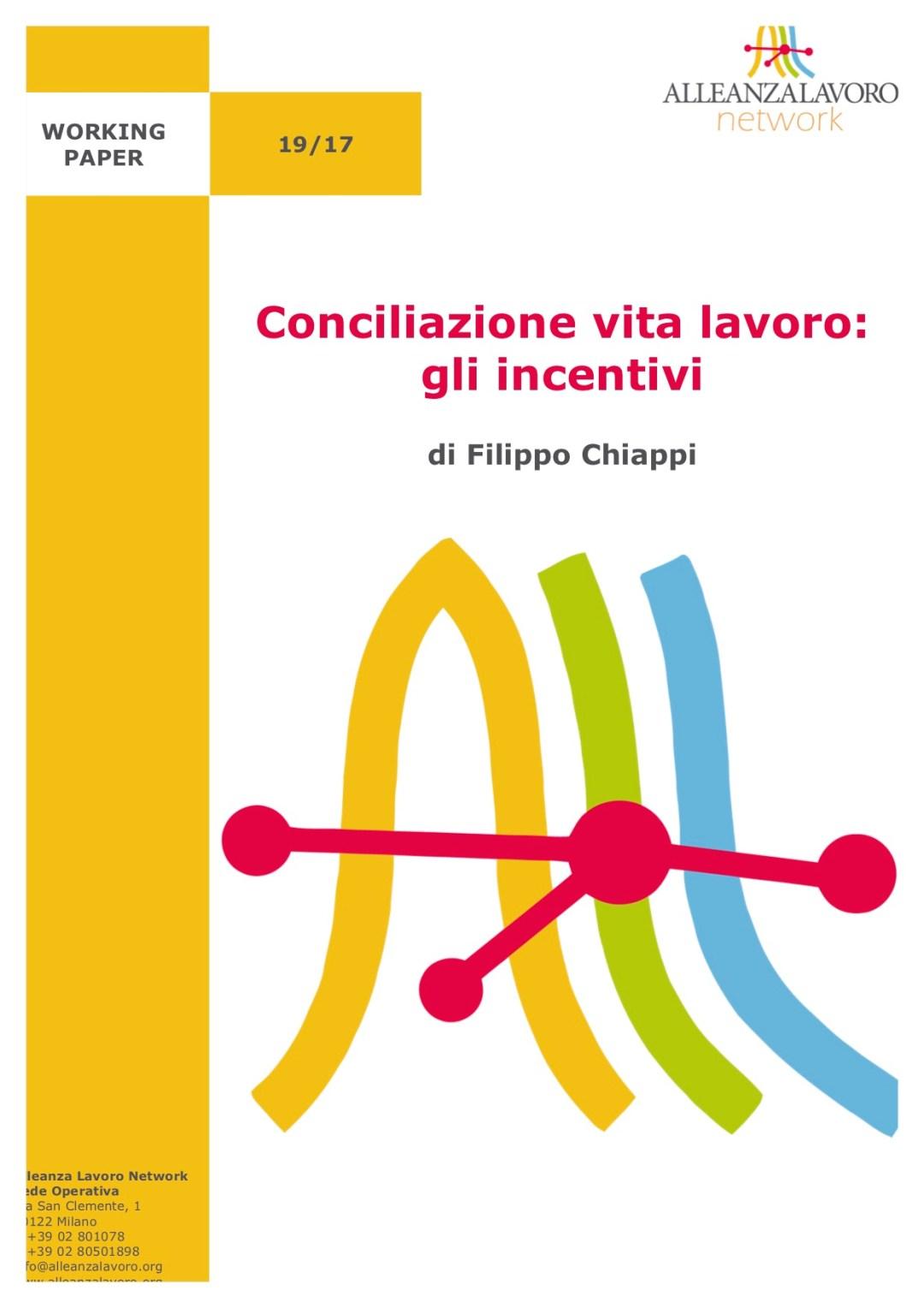 Working Paper: Conciliazione vita lavoro: gli incentivi