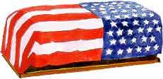 bandera sobre ataúd