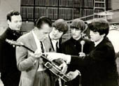 The Beatles and Ed Sullivan in 1964 (12kb)