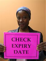 Step 1: check expiry date of the condom