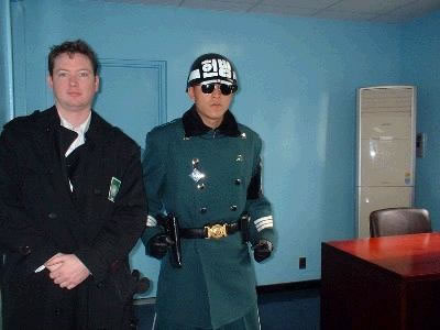 Standing in North Korea