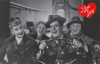 I Love Lucy - California, here we come - Lucy and Ricky Ricardo, Fred and Ethel Mertz, Lucille Ball, Desi Arnaz, Vivian Vance, William Frawley