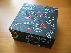 Japanese Swap - Painted Wooden Box