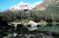 The beautiful setting of Blue Lake where we camped for the<br /> first night