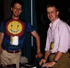 Marco Cantu (right) and Jeroen Pluimers (left) in 1997