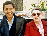 President Elect Obama with his Grandma