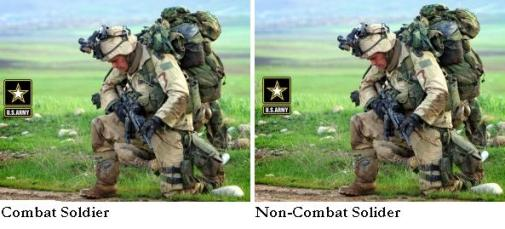 The difference between a combat soldier and a non-combat soldier
