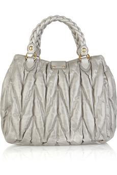 Miu Miu Matelasse shiny leather bag