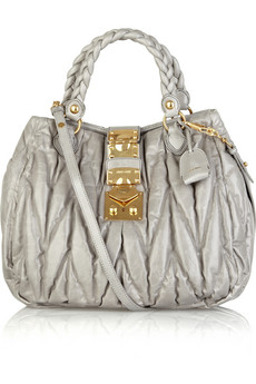 Miu Miu Matelasse shiny leather bag