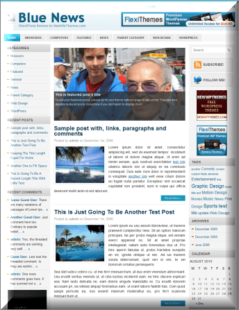 Blue News Magazine WordPress Theme