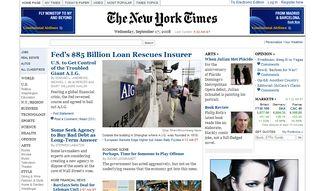 New York Times, el periódico americano de referencia