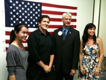 UTD Ron Paul students with Glenn Addison at Ron Paul Dallas activists Headquarters