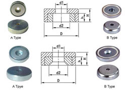 Round Neodymium Pot Magnets