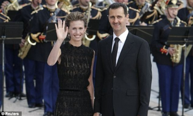 Tyrant: Syrian dictator Bashar al-Assad, pictured with his wife Asma, is facing increasing international pressure over his brutal massacre of his own people