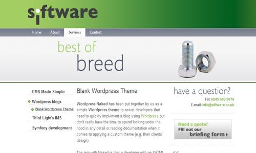 nake html5 wordpress theme 10 Free HTML5 WordPress Themes