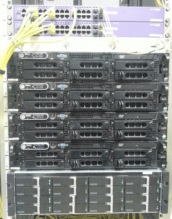 One of the cluster nodes, ready for action.
