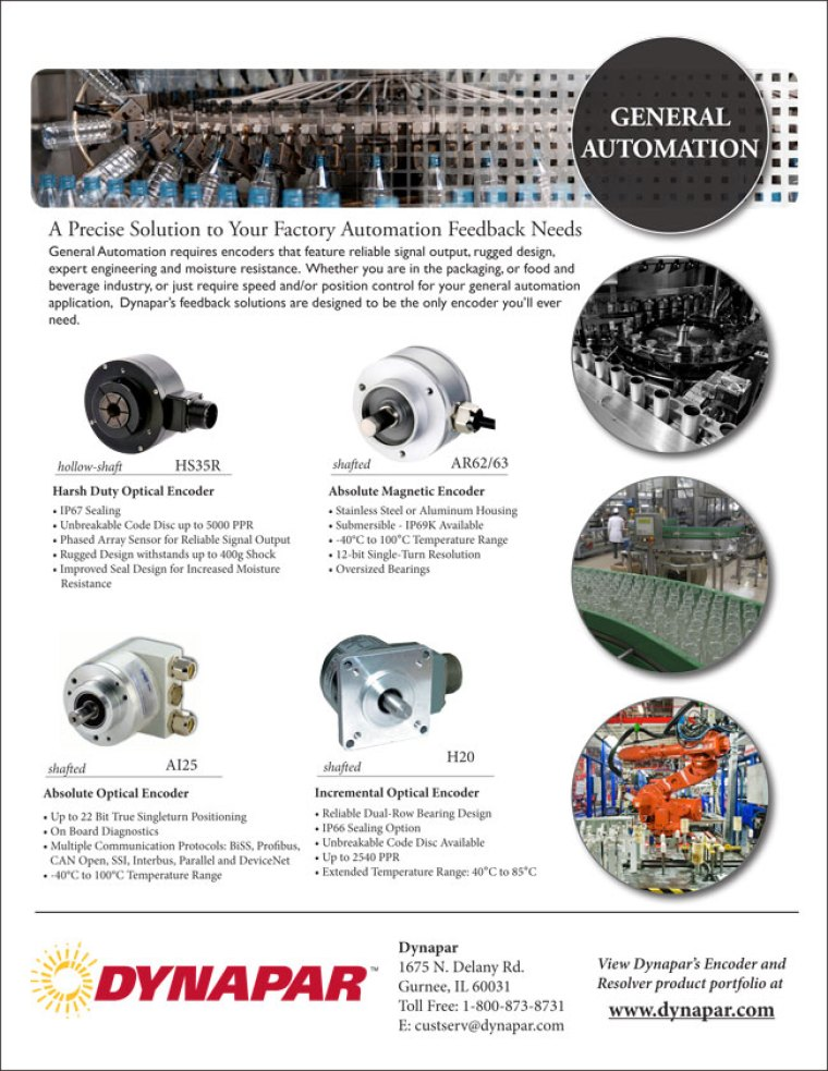 General Automation Industry Product Sheet 12_14_12