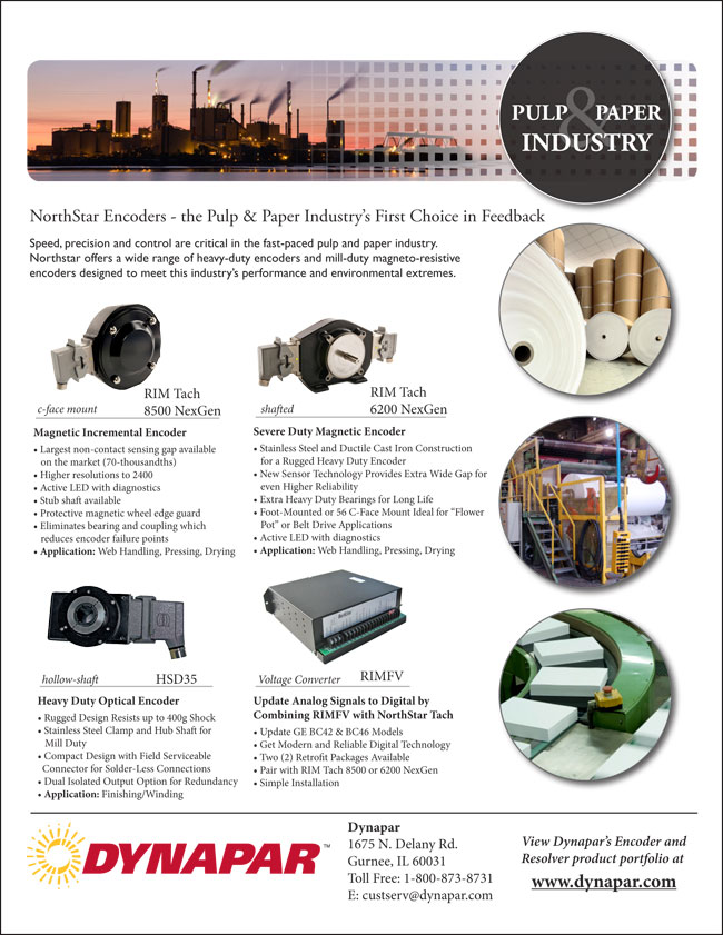 Pulp and Paper Industry Product Sheet