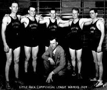 1934 Little Rock Commericial League employees basketball team.  Oh those outfits!