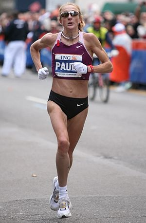 English: Paula Radliffe winning in New York