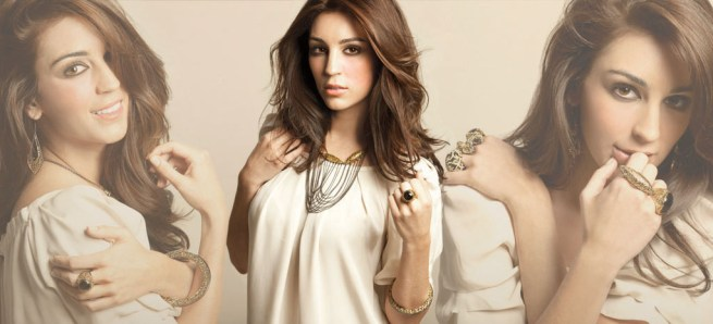 Designer costume jewellery with girl photo