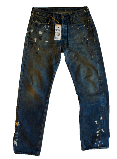 Japanese Crush processing. . Design Kenneth buddha Jeans