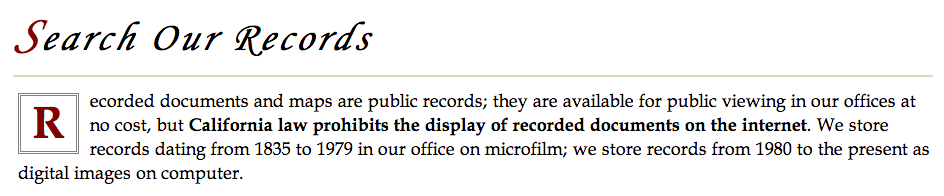 California, home of Silicon Valley, says microfilm is okay, but the internet is not.