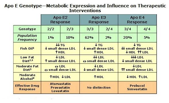 Apoe dietary effects