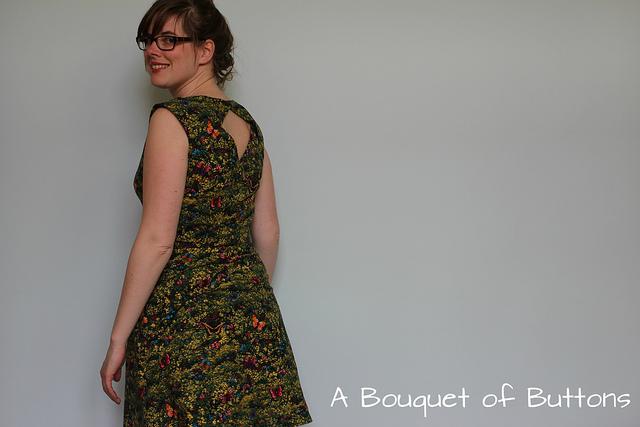 Belladone, dress, jurk, butterfly, Robert Kaufman, nature studies, Deer & Doe, butterfly, belladone dress, robe belladone, no center back seam