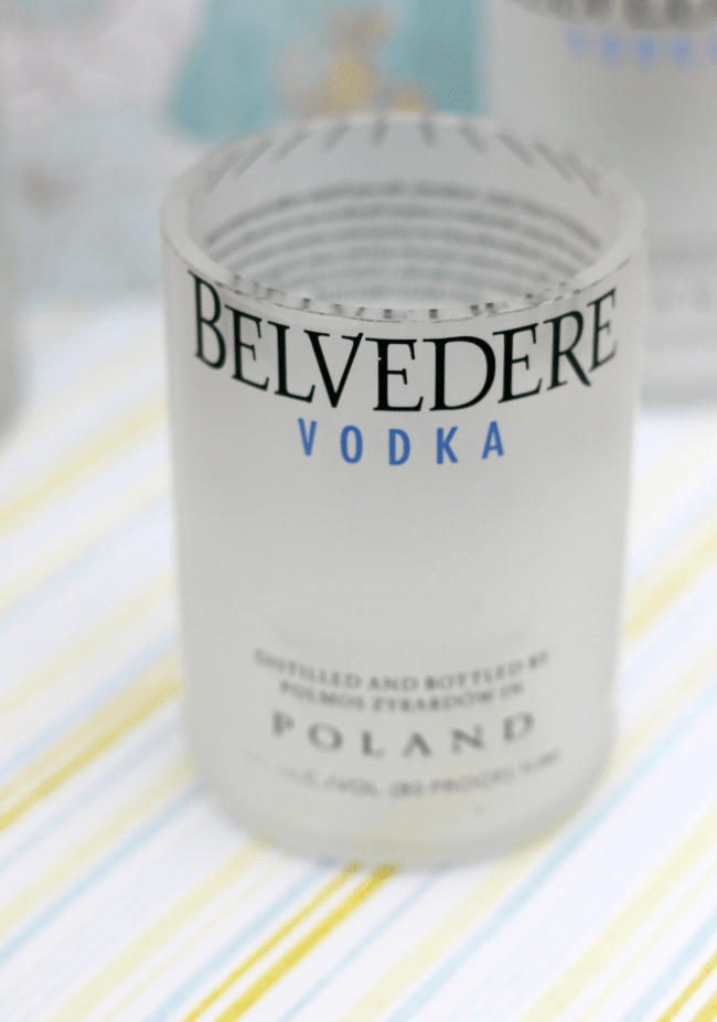 Recycled Belvedere Vodka Glass Tumbler
