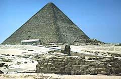 A Grande Pirâmide e Esfinge