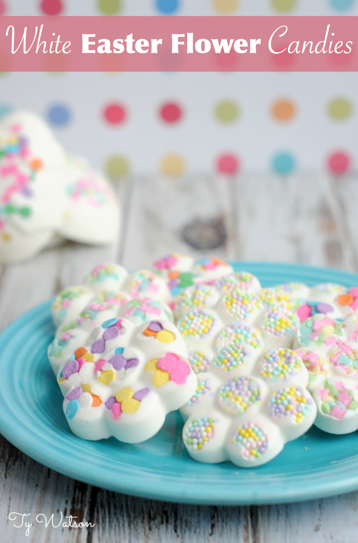 White Easter Flower Candies