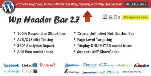 wp header bar plugin