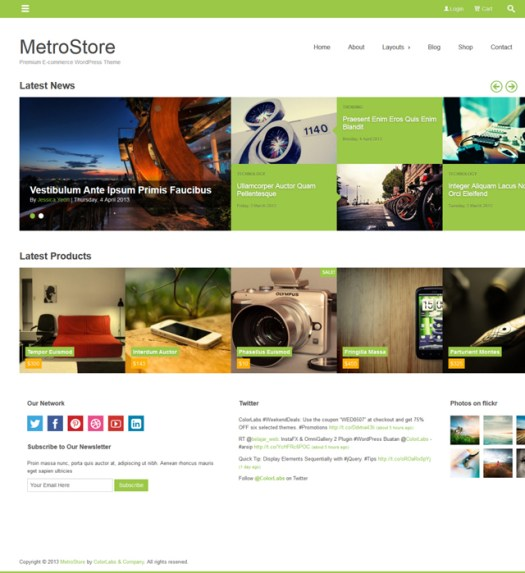 metro style WordPress WooCommerce Themes