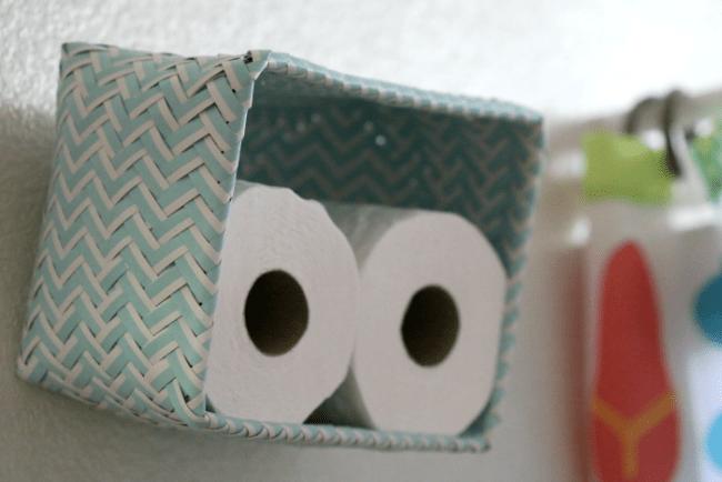 Nesting Basket Toiet Paper Idea