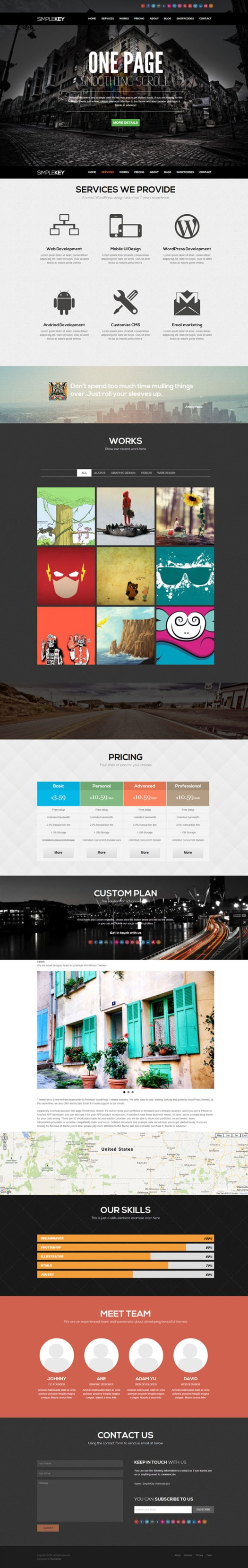 SimpleKey Application Developer landing page Theme