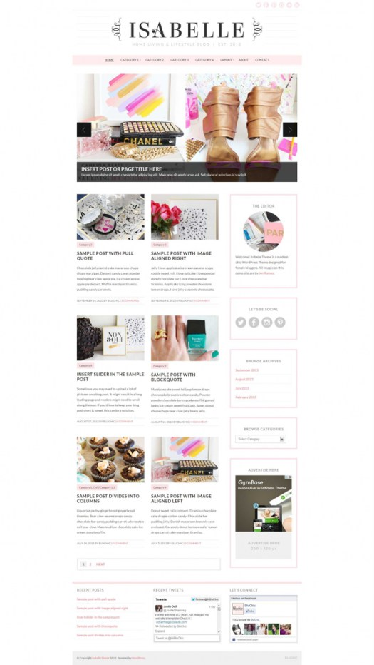 simple WordPress themes for women