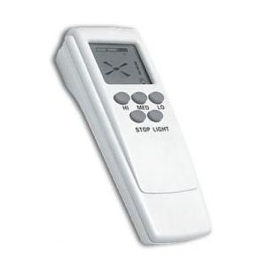 Handheld infra-red transmitter (required 9-volt battery).