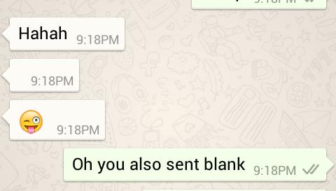 WhatsApp Blank Message