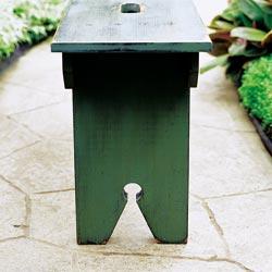 garden bench inset