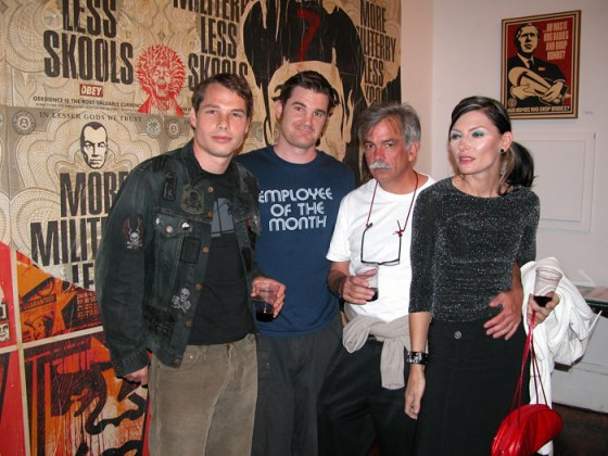 Justin Giarla and Shepard Fairey