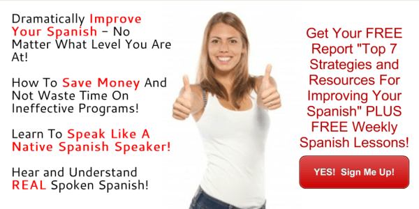 Teaching Yourself Spanish Newsletter Sign Up