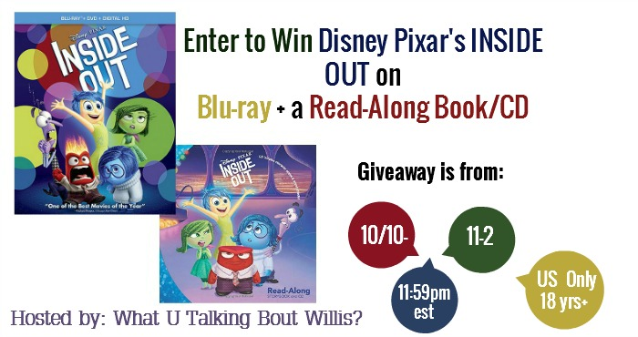 Inside Out Blu-ray Giveaway