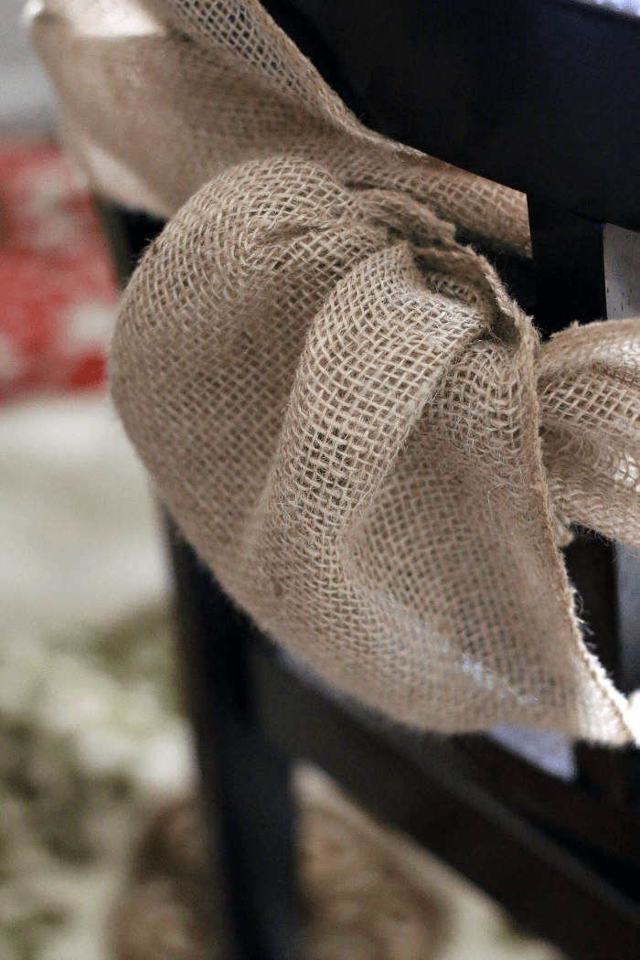 DIY Burlap Chair Sash